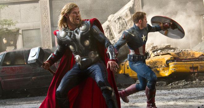 Chris Hemsworth Chris Evans The Avengers
