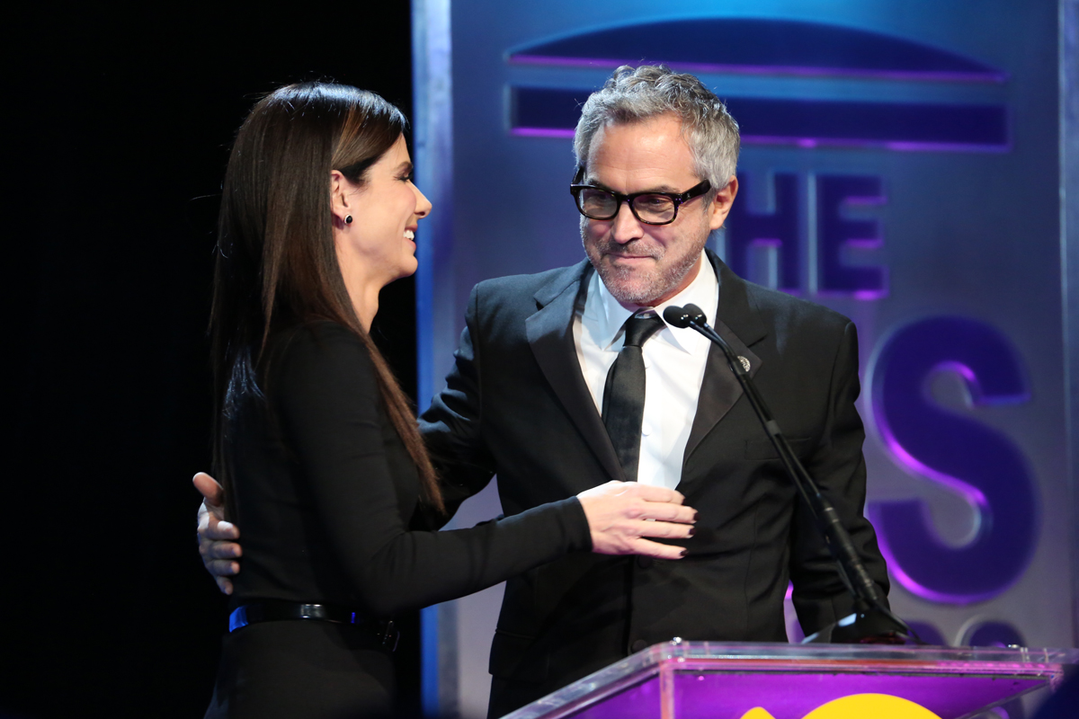 Alfonso Cuarón Sandra Bullock Visual Effects Awards 2014
